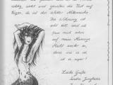 Brief mit Zeichnung einer Nixe